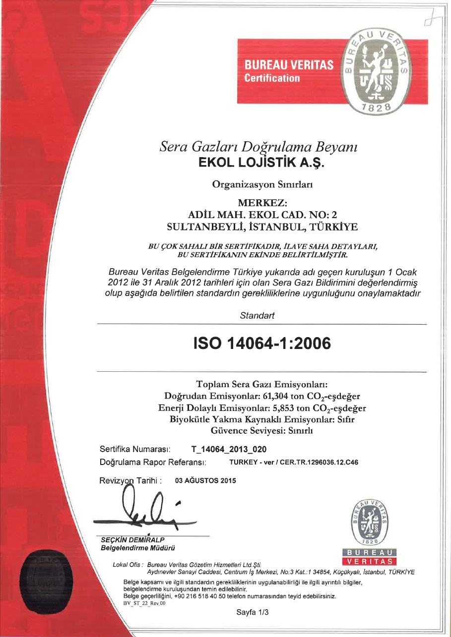 ISO 14064-1:2006 Sayfa 1/3