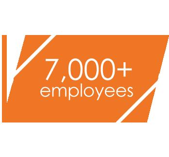 7000+ employees
