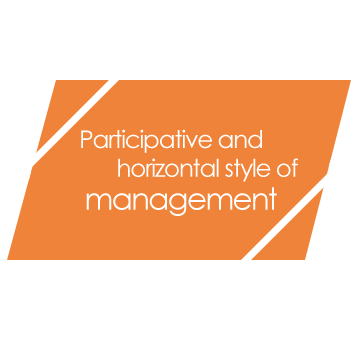 Participative and horizontal style of management