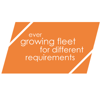 ever growing fleet for different requirements