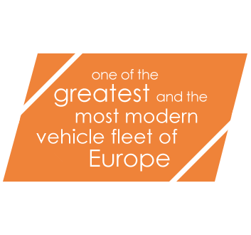 one of the greatest and the most modern vehicle one of the greatest and the most modern vehicle fleet of Europefleet of Europe