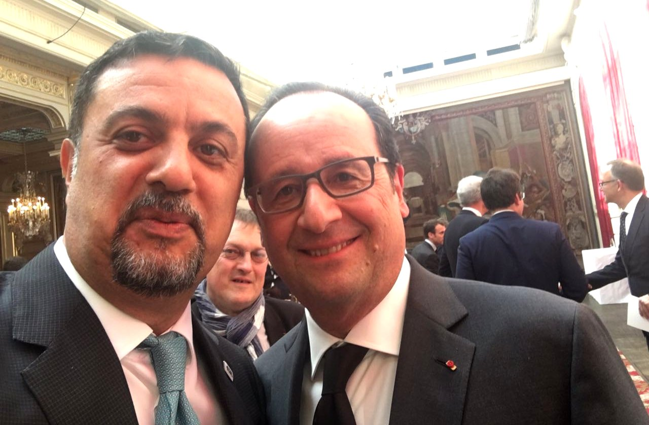 Ahmet Musul ve Fransa Cumhurbaskani Hollande