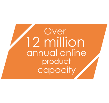 Over 12 million annual online product capacity