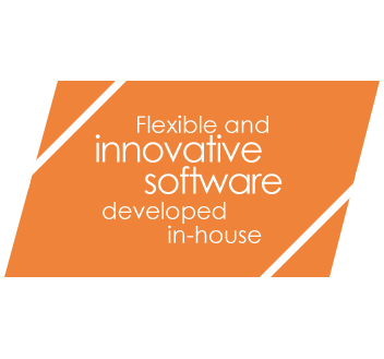 Flexible and innovative software developed in-house