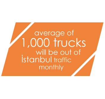 Average of 1000 trucks will be out of Istanbul traffic monthly