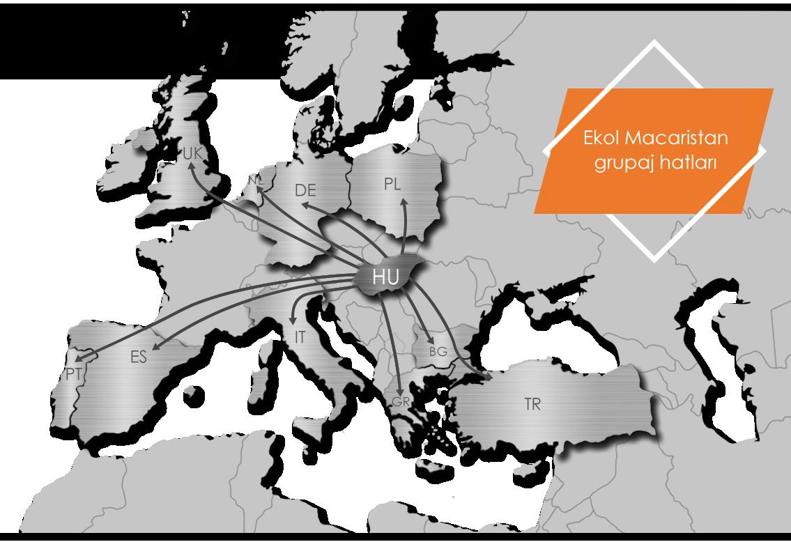 Ekol Macaristan Grupaj Hatları
