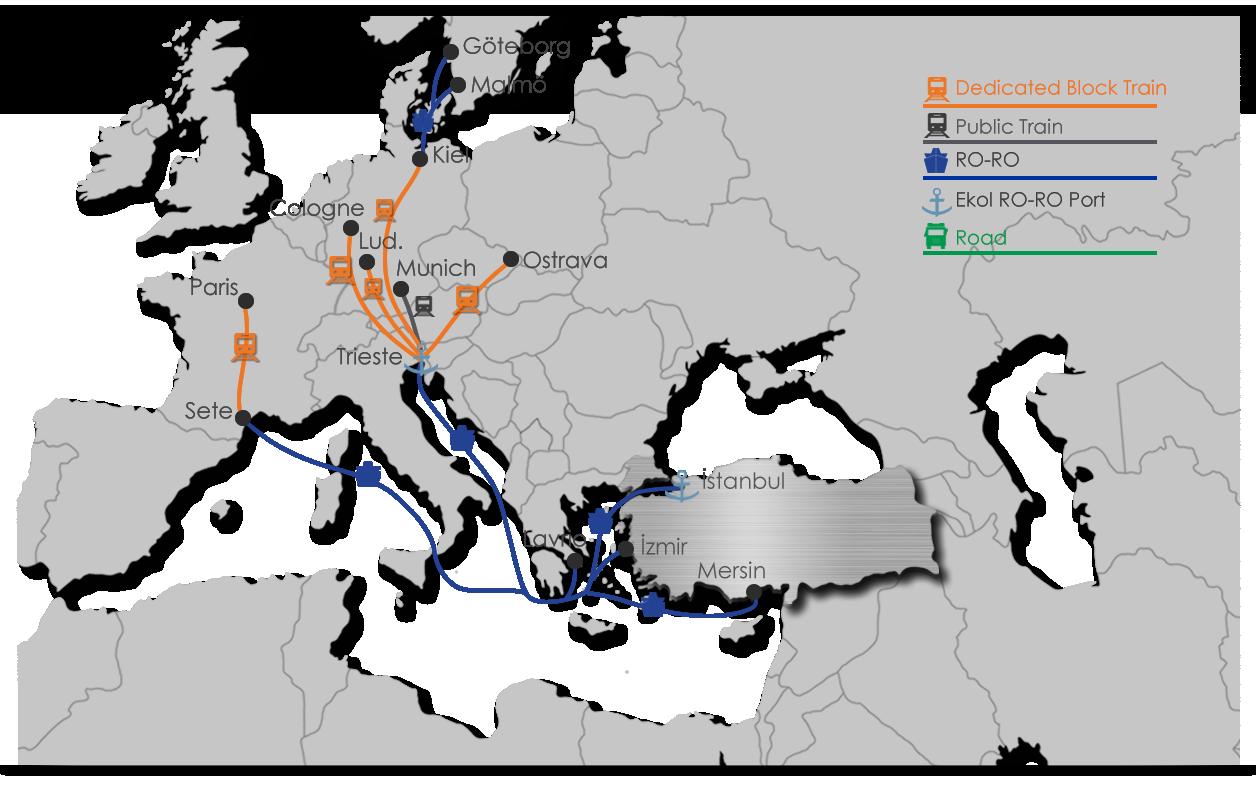 Intermodal Map - Ekol Turkey