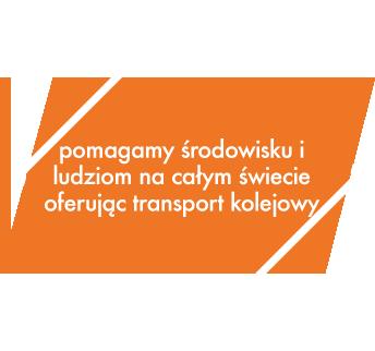 Pomagamy środowisku i ludziom na całym świecie oferując transport kolejowy