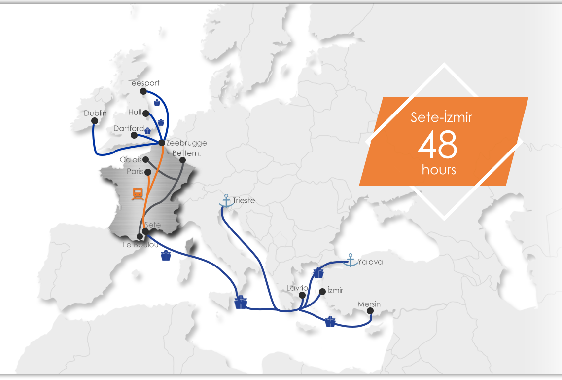 France Intermodal Map