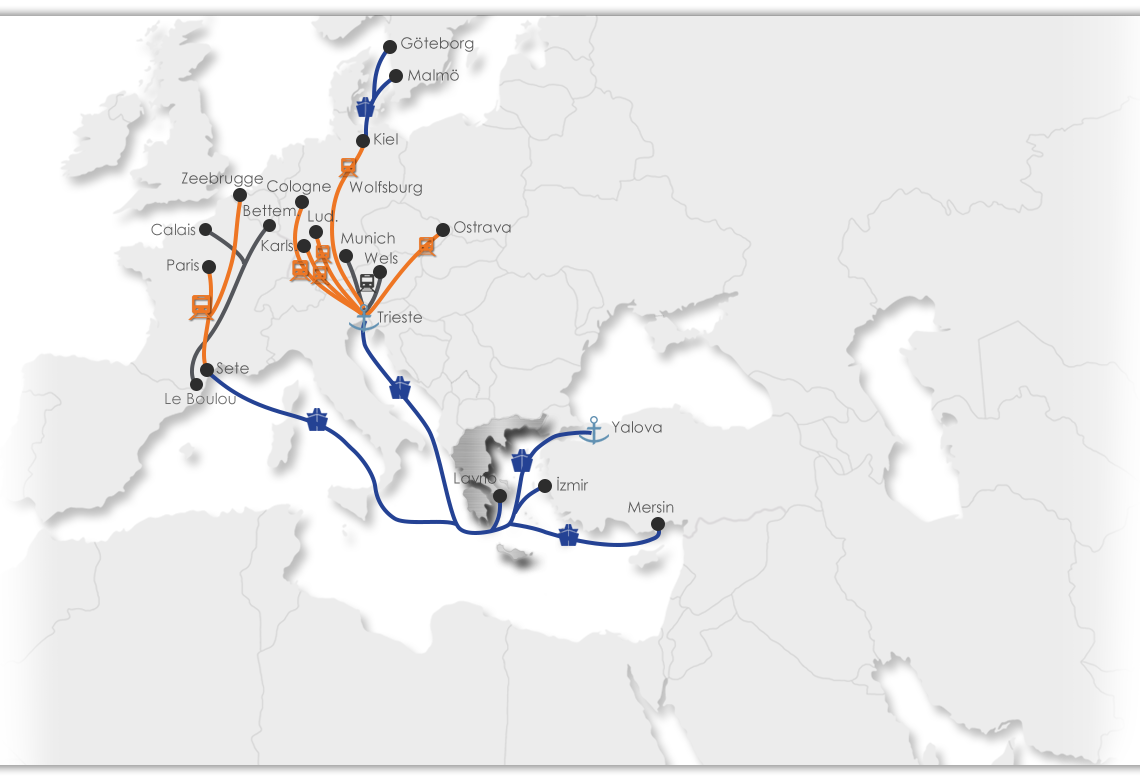 Greece Intermodal Map