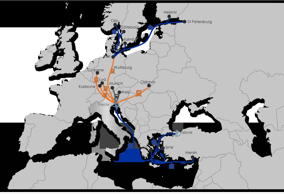 Italy Intermodal Map