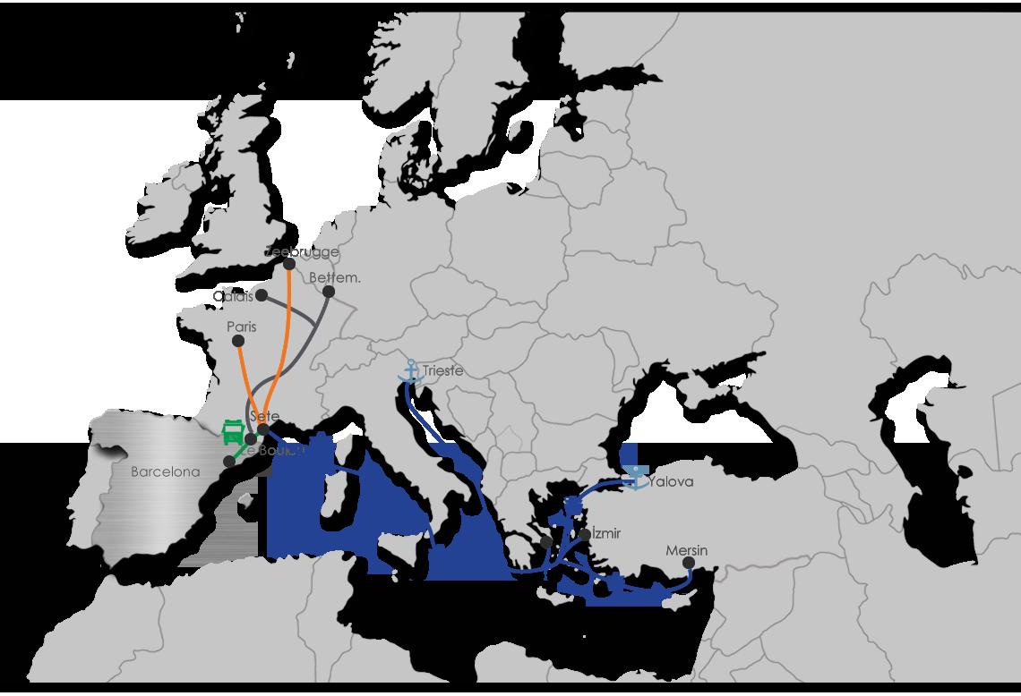 Spain Intermodal Map