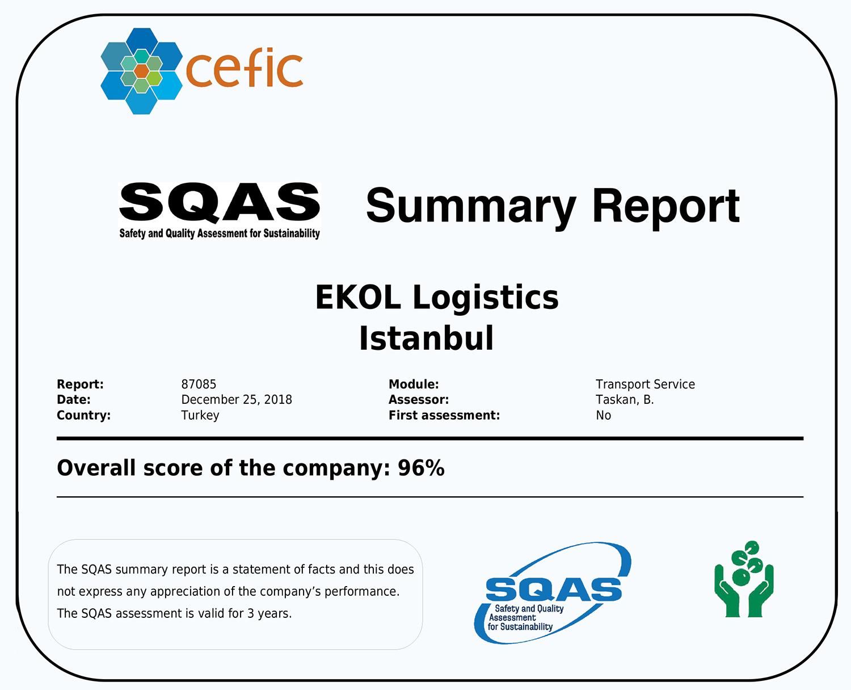 SQAS Ekol Logistics