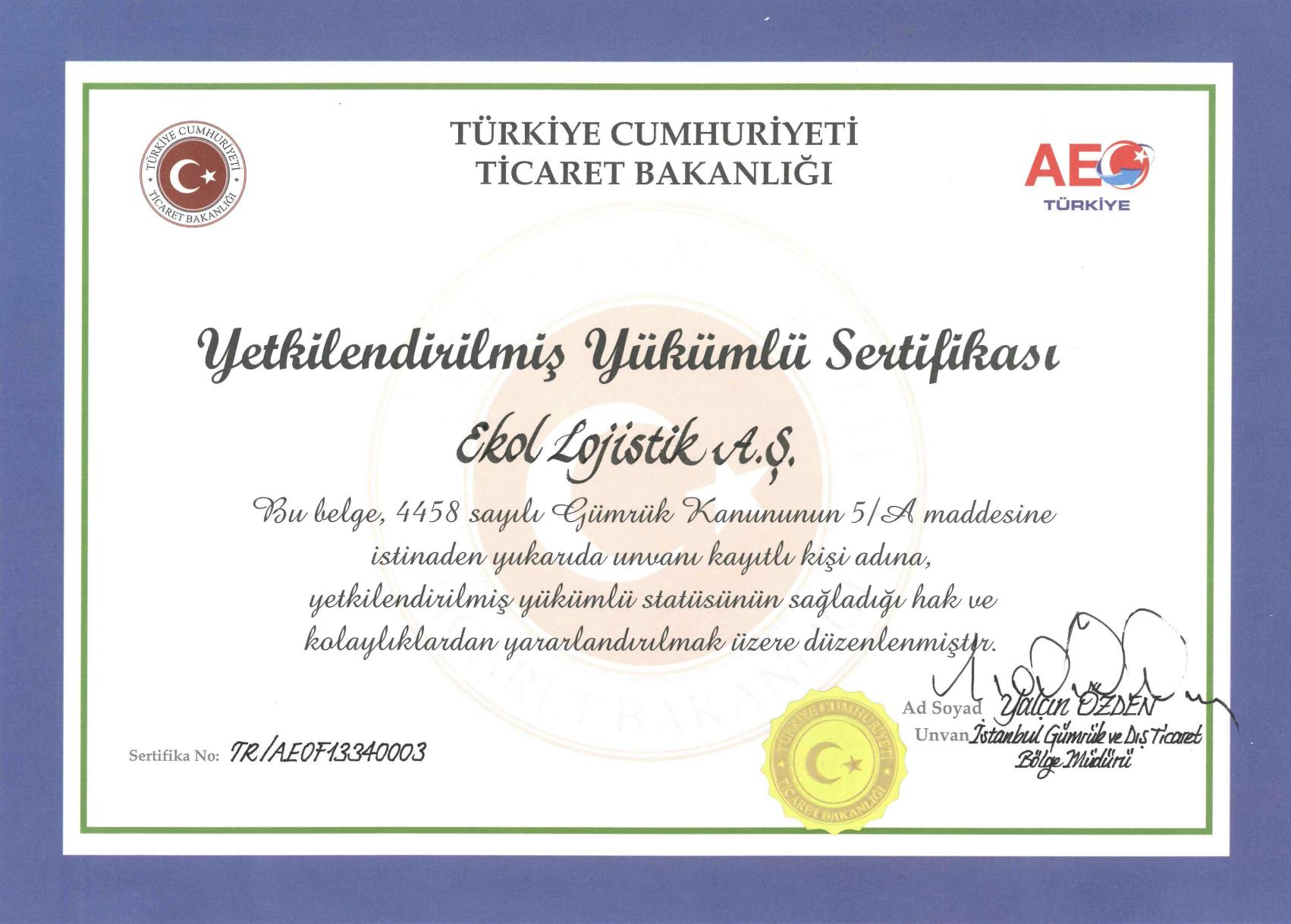 Ekol Türkiye AEO