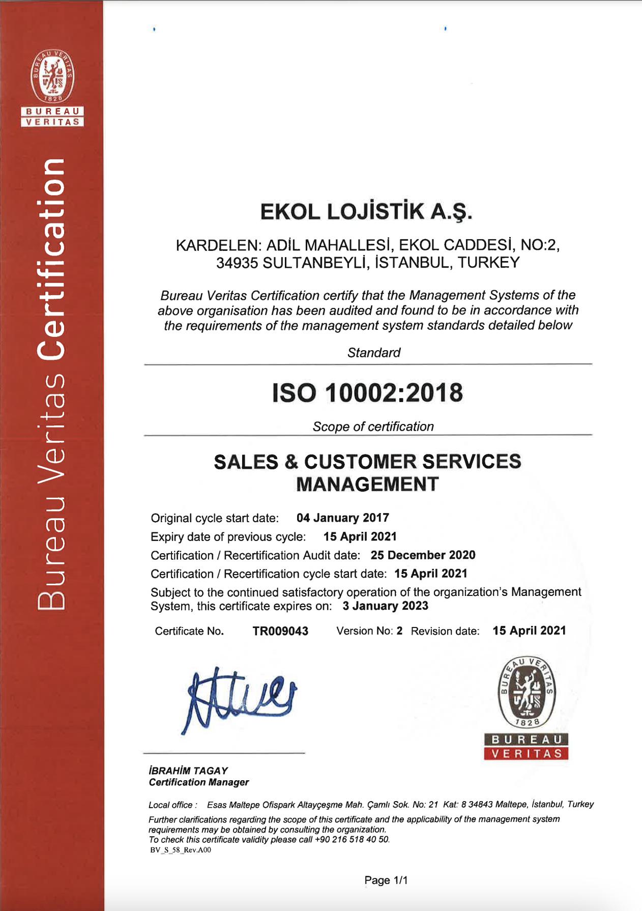 Customer Satisfaction Complaints Handling